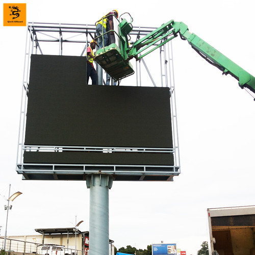 Top sale high quality outdoor street unipole billboard construction company