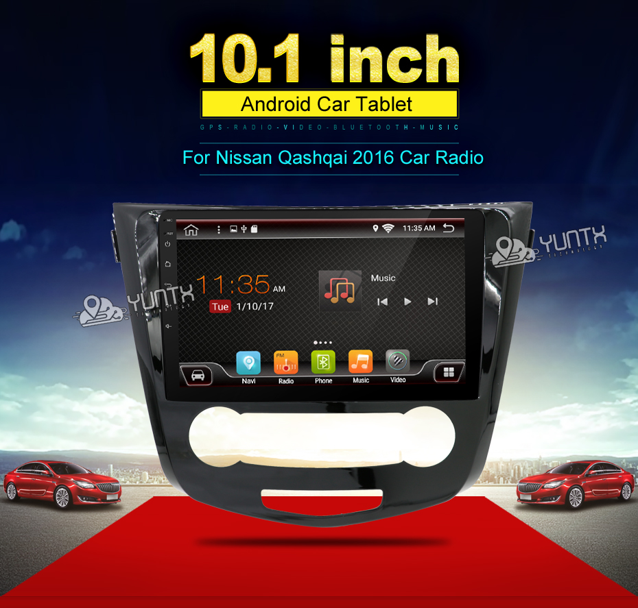 2 Din Android 6 0 Car Dvd Multimedia For Nissan Qashqai 2016 With