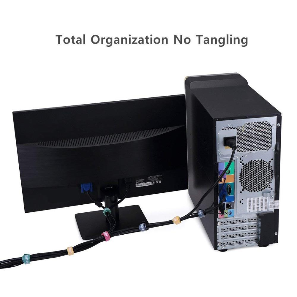 Для наложения оболочки проводов крюк и петля регулируемые ленты нейлона кабельные стяжки