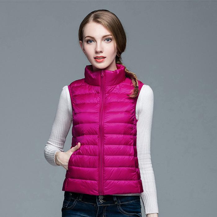 JACKETOWN Hot cheap winter spring women ultralight foldable duck feather down vest light