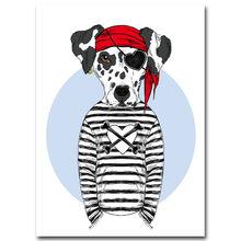 Скандинавское украшение, каваи, животные, кошка, собака, настенная живопись, холст, постер, домашний декор, современная картина для украшени...(Китай)