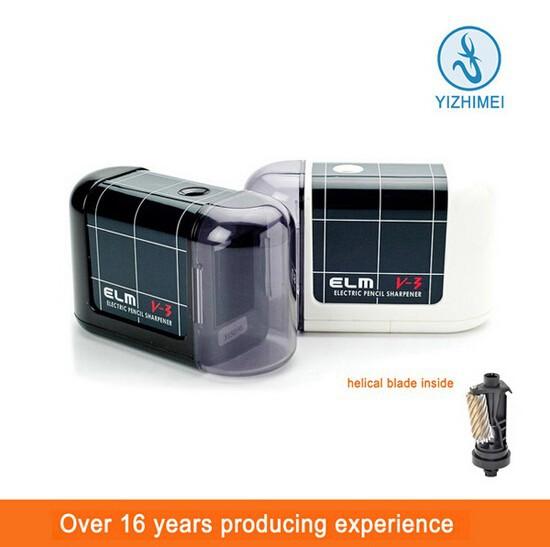 Black High Quality Desktop Pencil Sharpener Electric Battery Operated  ELM V3