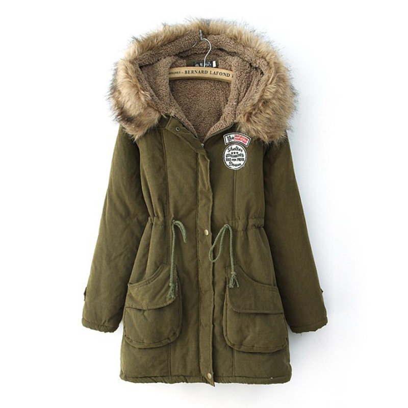 Plus size winter coat women jacket long thick lamp cotton