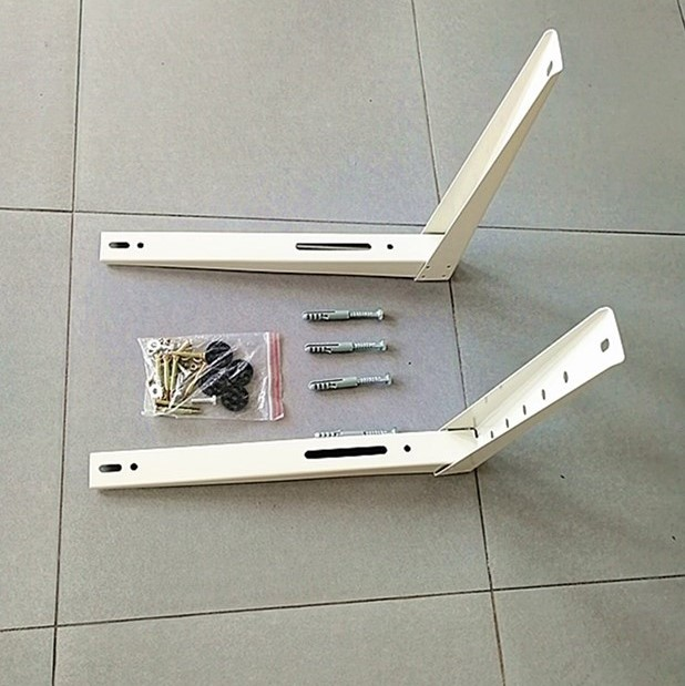 L cold rolled steel iron AC air conditioner mounting bracket