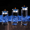 clear candle tins