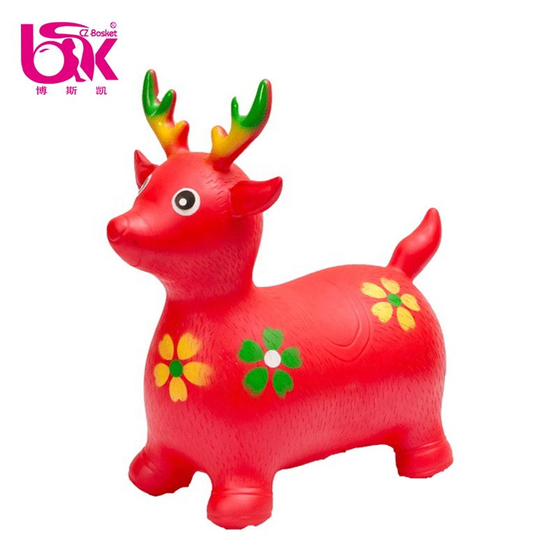 Latest Style New Design Pvc Soft Inflatable Plastic Jumping Animal Toy for Kids