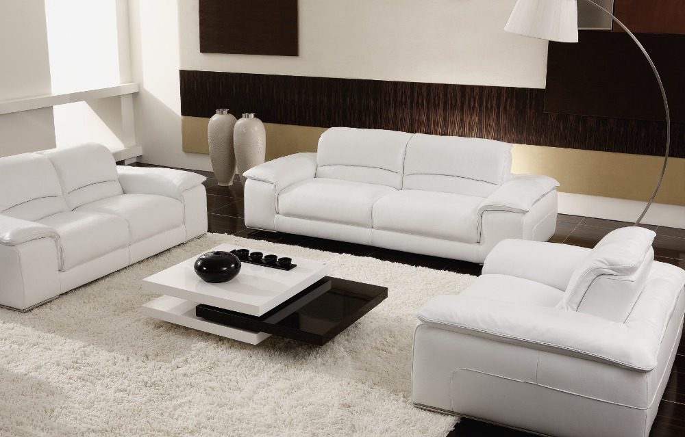 Aliexpress.com : Buy White/beige Sectional Leather Sofas