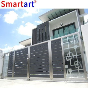 Simple US stainless steel automatic gate