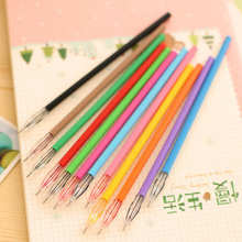 1pcs/lot Colored Gel Pen Girls Painting Pen Cartoon Fresh Candy Colors Stationery Pens Writing Supplies 0319