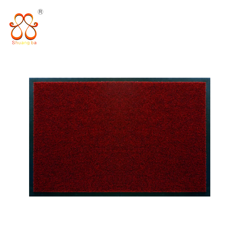 Plain velour door mat with PVC backing