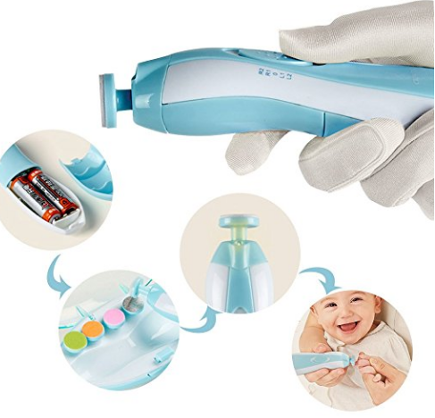 Baby Nail Trimmer File with Light Battery Operated (AA)