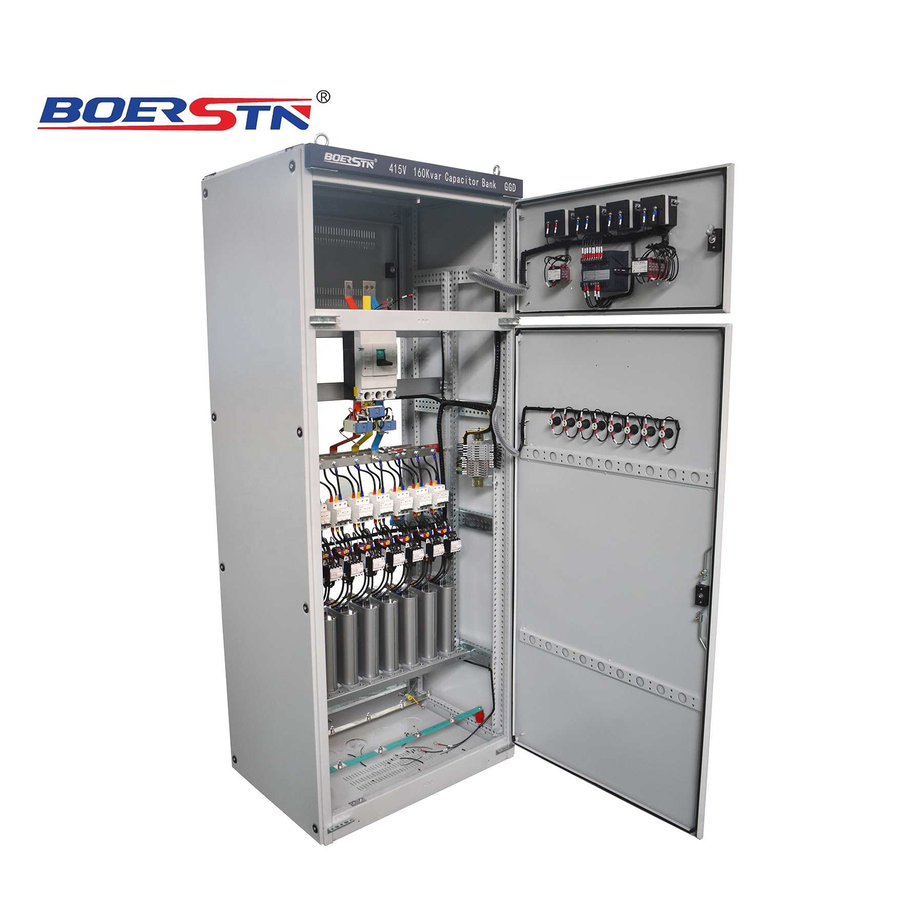 Intelligent Capacitor Reactive Power Compensation Cabinet Auto Power Factor Improver Apfi Switchboard Panel View Capacitor Bank Panel Boerstn Product Details From Boerstn Electric Co Ltd On Alibaba Com