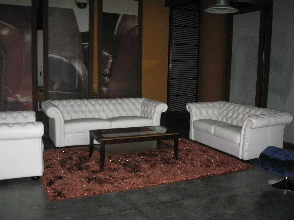 Designer white top graded real leather sofa suite - Elegant formal living room furniture ...