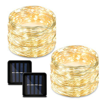100 LED Warm White Festival Decoration Copper Wire Solar String Lights Fairy Lights for Outdoor Decorations
