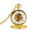 wholesale gold mechanical Twin opening vintage case pocket watch with chinese movt