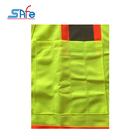 Work Vests Yellow Safety Vest Work Safety Outdoor Yellow Hi Vis Adjustable Reflective Safety Security Vests With Zipper
