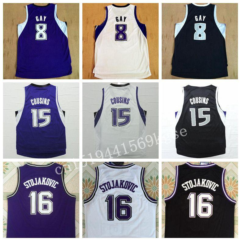 5450d3a20 ... Hot 16 Peja Stojakovic Jersey Retro 15 DeMarcus Cousins 8 Rudy Gay  Shirt Uniform 7 Darren ...