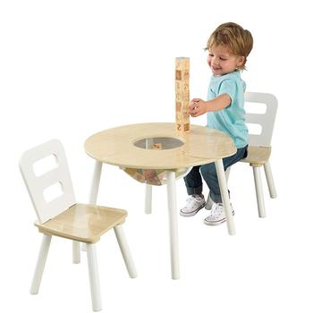 kids Wooden Table and Chair Set Kids Playhouse Furniture Kids Bedroom