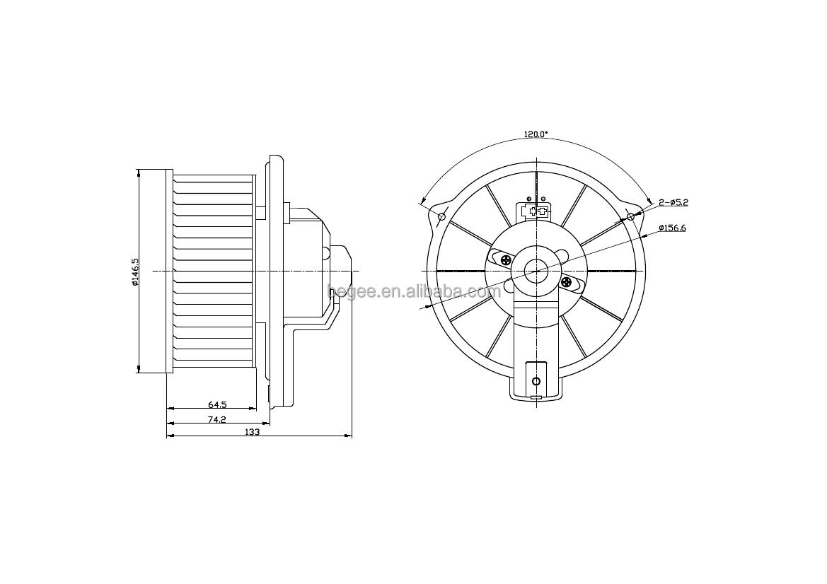 Begee Auto Part Ac Manufacturer Air Conditioner Blower