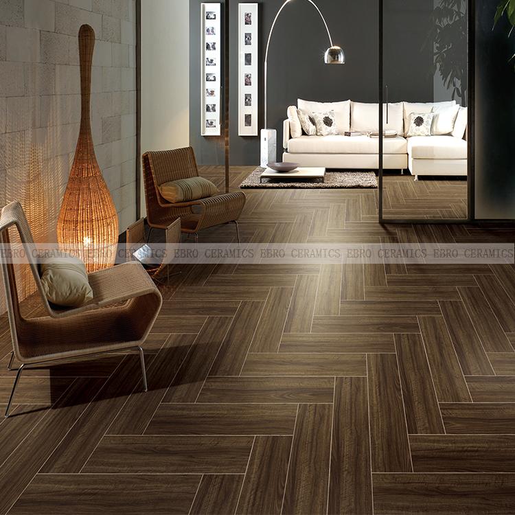 15x60 Black Brown Color Wood Texture