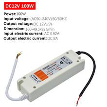 1 шт. DC12V источник питания светодиодный драйвер 18 Вт/28 Вт/48 Вт/72 Вт/100 Вт адаптер Освещение Трансформатор переключатель для светодиодной ленты...(Китай)
