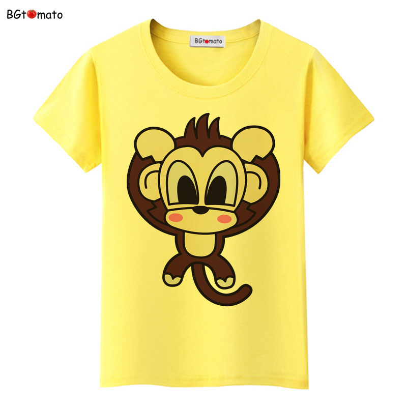 11b99870055c BGtomato Creative cartoon monkey t shirt women lovely famous cute shirt  Brand Good quality breathable casual shirts-in T-Shirts from Women's  Clothing & ...