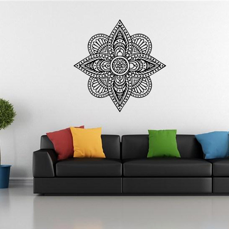 New Arrival Home Decoration Indian Buddhist Mandala Art Deco Wall Decals Sticker Living Room Bedroom Home Murals Sticker Y033 Indian Home Decor Olivia Decor Decor For Your Home And Office