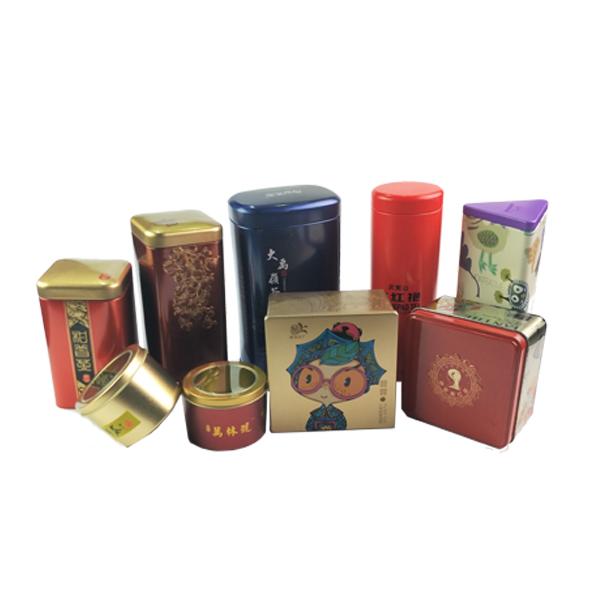 High Quality Rectangular Inner Lid Tea Coffee candy cookie Tin Box metal tins