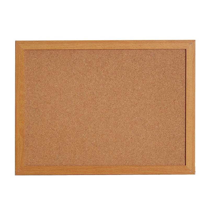 30*40 CM Double sided Beech Wooden Frame Pin Cork Board