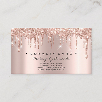 2019 Fashion Wholesale Odm Custom Logo Rose Gold Foil Lashes Brows Beauty Loyalty Cards