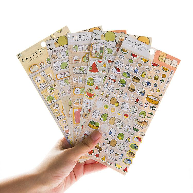 Cute Unicorn Stickers Kawaii Cartoon Cat Sticky Paper Stickers For Kids Gift Diy Scrapbook Diary Stationery