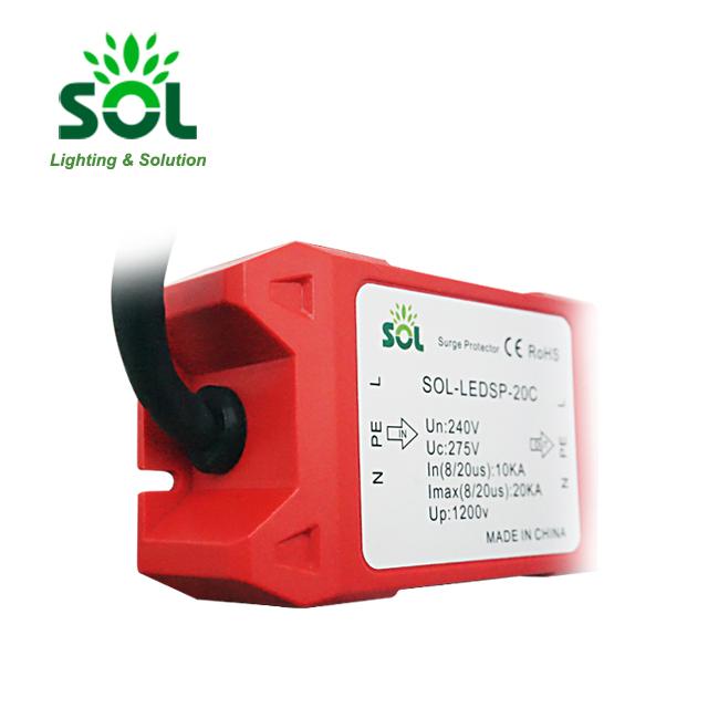 Hot sell 220V 20kV SPD LED Surge Protector Device For LED Flood Lighting