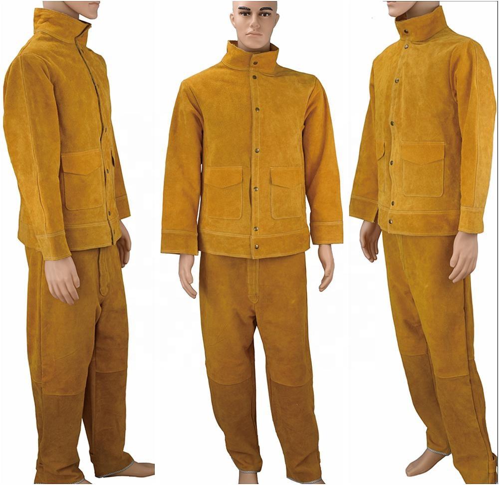 SWELDER Factory Leather Welders Jacket Protective Clothing Welding Mig Tig