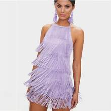 Женское облегающее платье-мини без рукавов, черно-белое или фиолетовое Клубное вечернее платье знаменитости, лето 2019(Китай)