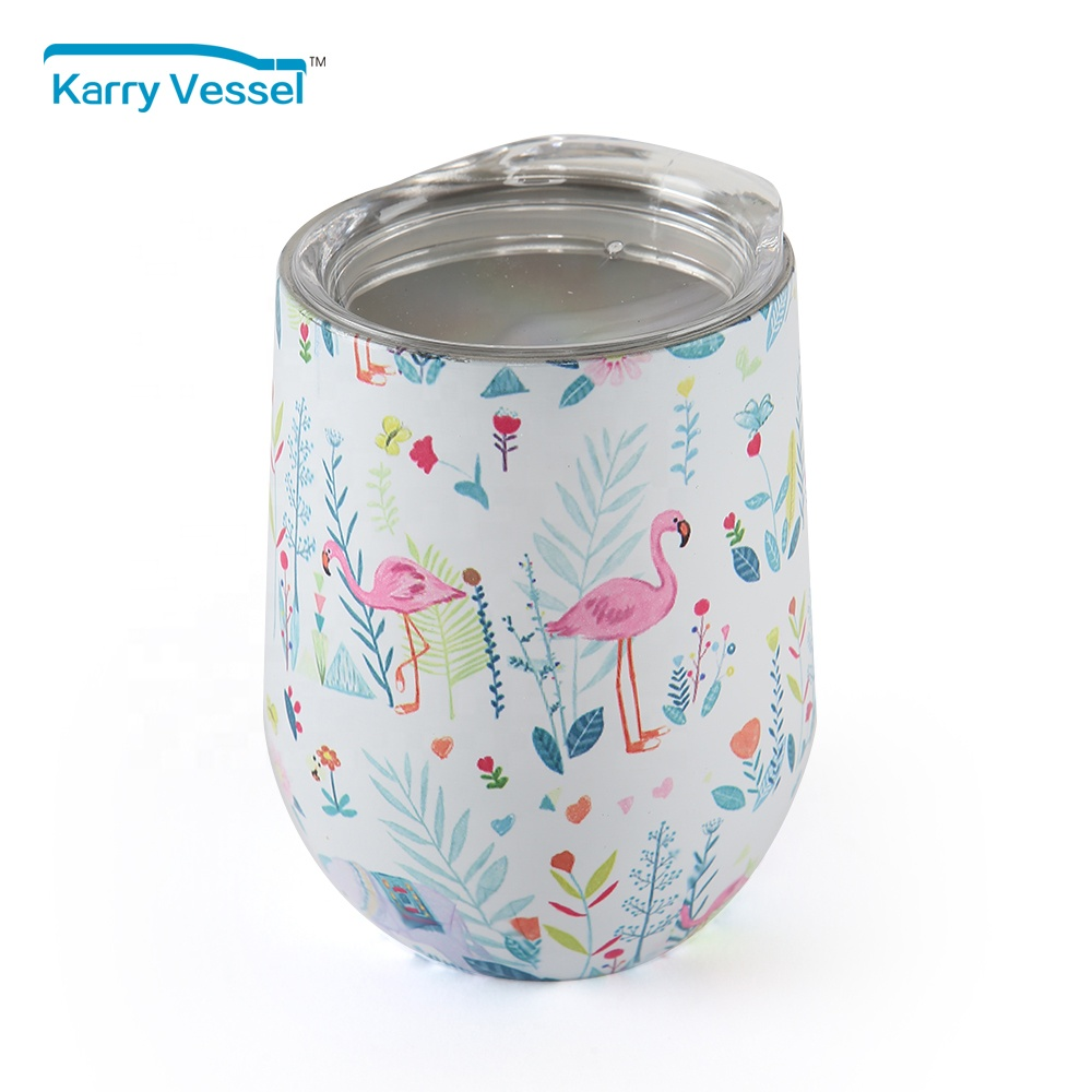 Wine Tumbler Stemless Insulated Stainless Steel Tumbler Cup with Lid for Red Wine