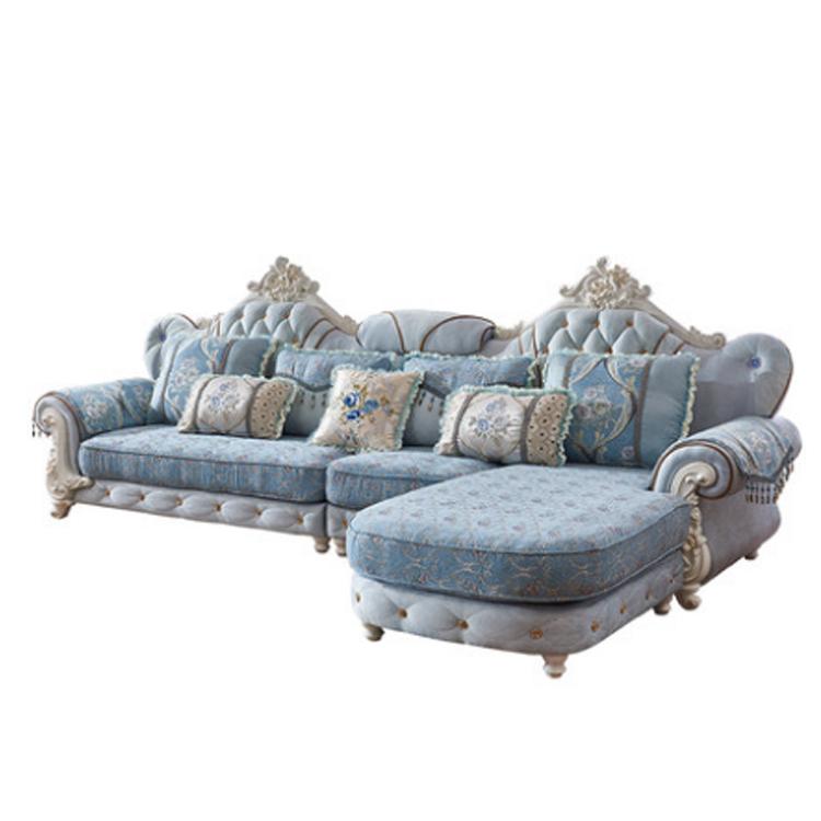 Antique Design Top Living Room Sofa European Design Navy Blue Fabric Sofa Set Buy Blue Sofa Fabric Sofa European Style Sofa Product On Alibaba Com
