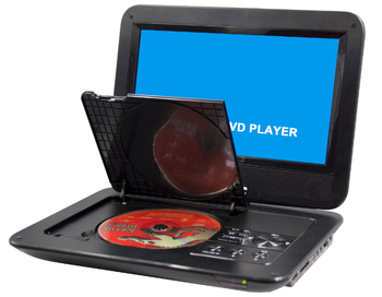 outdoor use full segment portable mini tv dvd player with 3D game function
