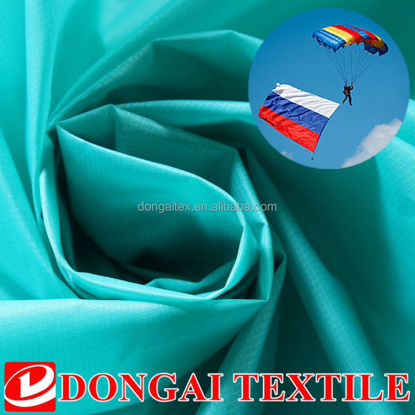lightweight nylon 66 ripstop silicon coated parachute fabric