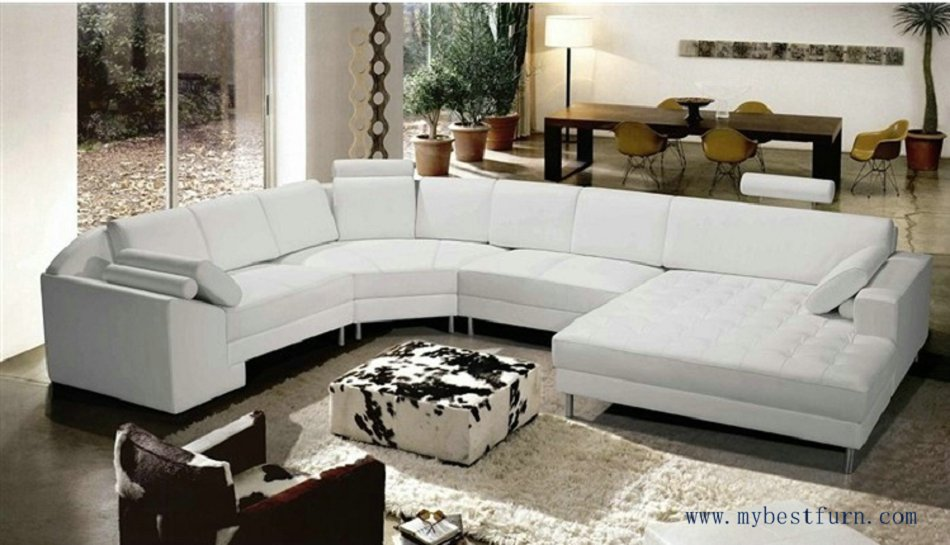 Free Shipping Extra Large Size U shaped Villa couch