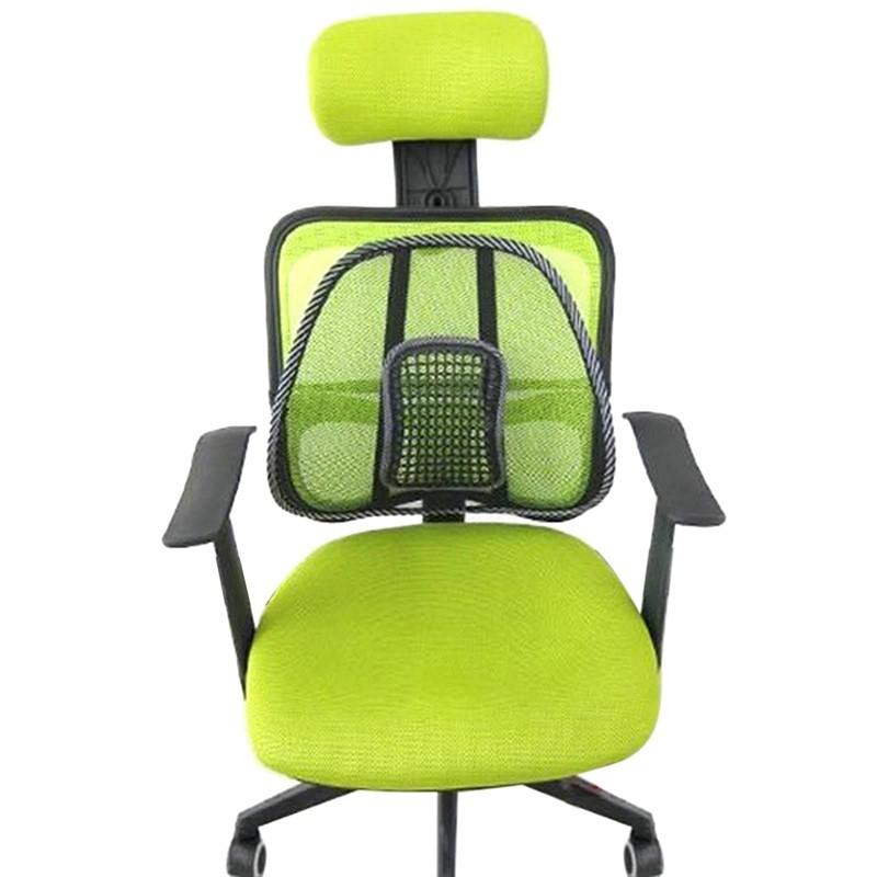 משלוח חינם מכירה חמה נוח רשת הכיסא הקלה המותני, כאב גב תמיכה כרית רכב במשרד מושב הכיסא השחור המותני כרית