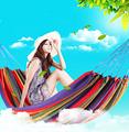 High Quality Portable Sleeping Hammock Outdoor Garden Leisure Thicken Nylon Rope Travel Camping Swing Canvas Stripe