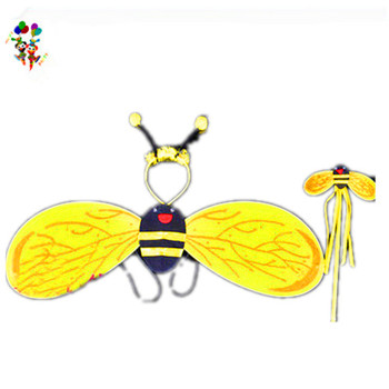 Headband Wand 3pcs Bumble Bee Fancy Dress Fairy Wings HPC-1764