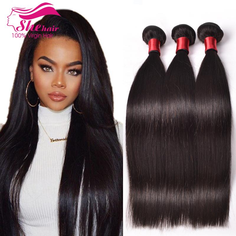 Peruvian Virgin Hair Straight 3 Bundles Unprocessed ...
