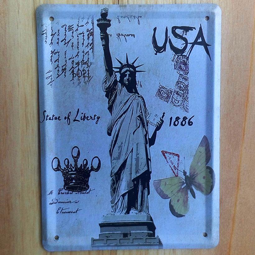3pcs/lot vintage metal tin signs