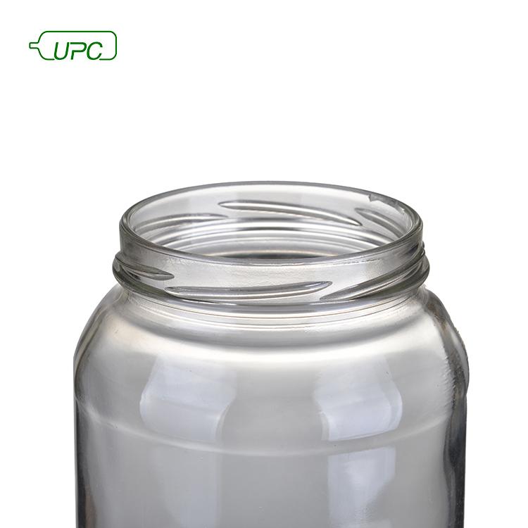 Прозрачная стеклянная банка для хранения еды