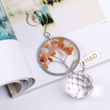 30mm Clear Glass Crystal Prism font b Ball b font Yellow Handmade Pandent Metal Chandelier Part