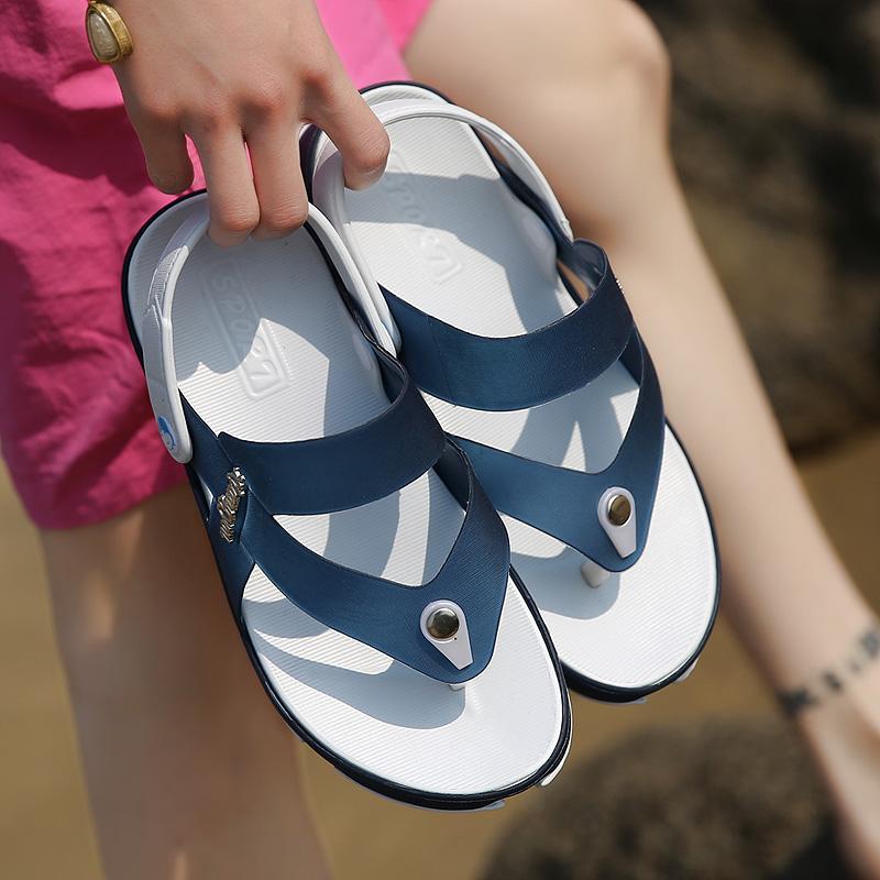 2017 Famous Brand Designer Plaid Stripes Men Sport Sandals Slippers Summer  comfort Men Outdoor male Beach Shoes Flip flops - us20 e1cbb5530e9f