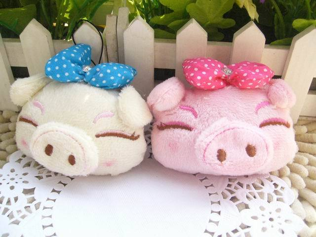 Plush Pig Toy Dolls Doll Small Pig Bags Decoration Small Car