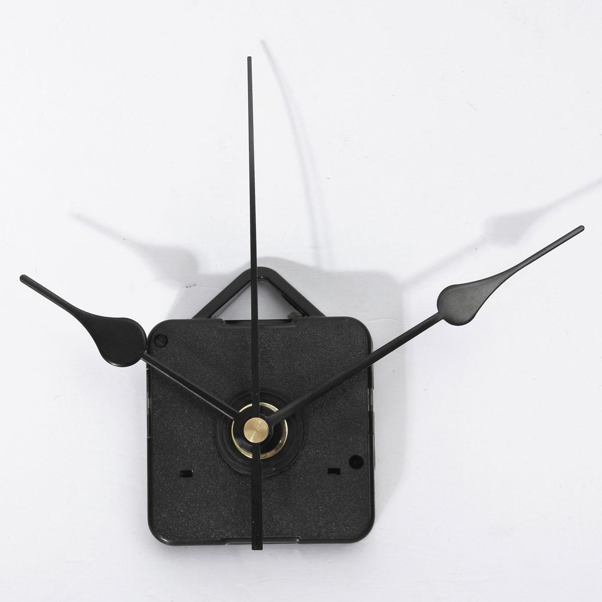 nouveau noir mains quartz horloge murale mouvement bricolage m canisme kit de r paration partie. Black Bedroom Furniture Sets. Home Design Ideas