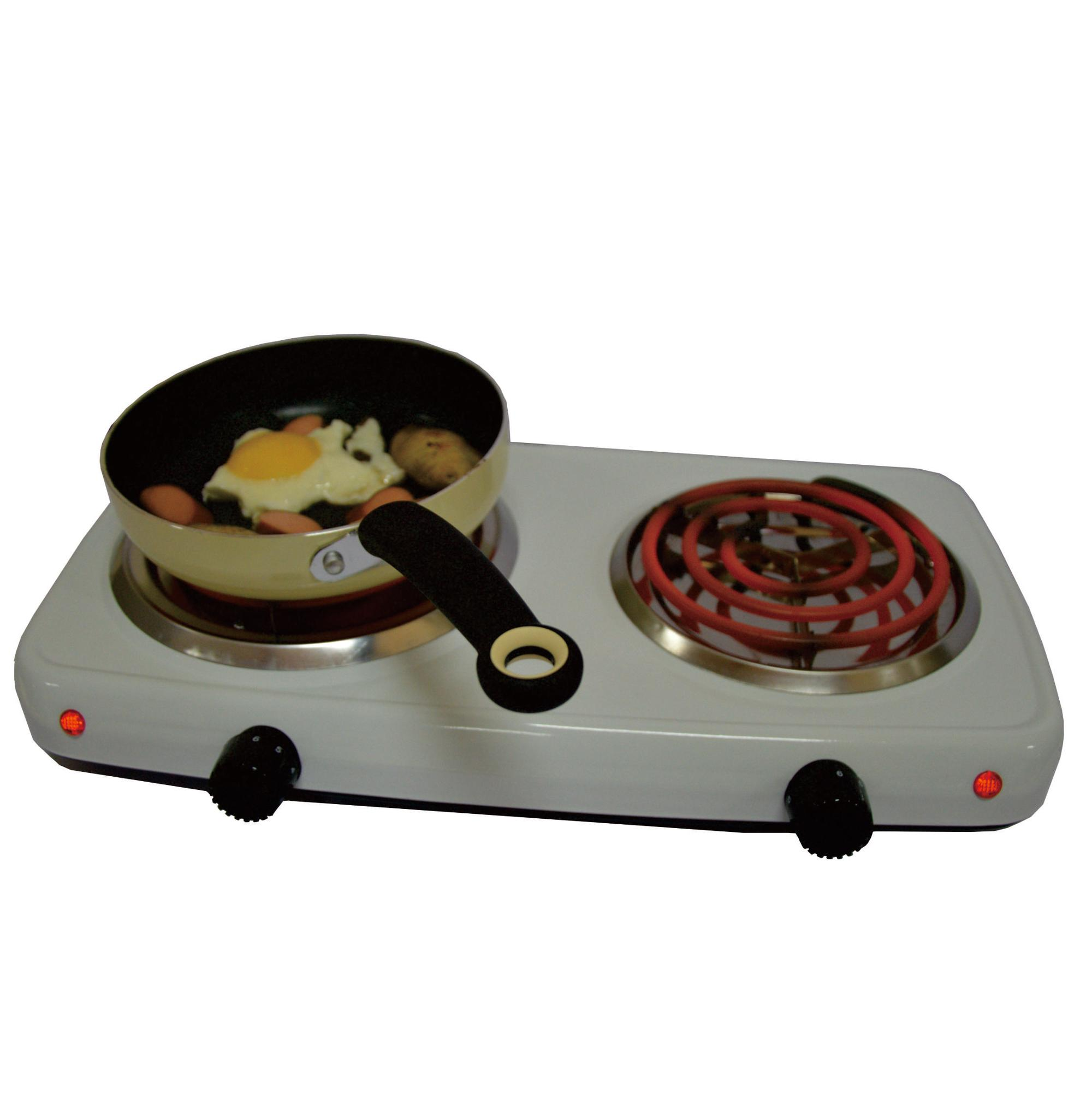 Hotplate Electric Double Burner Coil Spiral Tubes Good Electric Stove Hot Plate